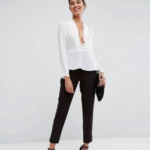 ASOS DESIGN waisted plunge top